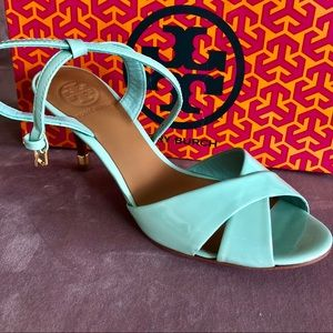 Tory Burch Patent Leather Ankle Strap Heels- 7.5 M